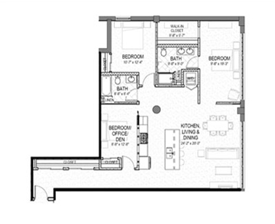 3 bed 2 bath 1468 square foot floor plan preview